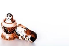 Rosyjskie lale Matryoshka Odizolowywający na białym tle Obraz Royalty Free