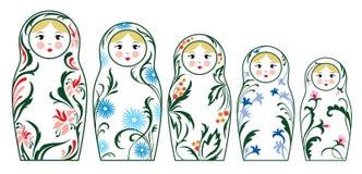 rosyjskie lalki. ilustracji