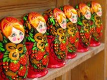 Rosyjskie matryoshka lale Zdjęcie Royalty Free