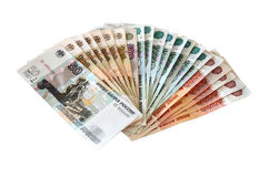 rosyjskie ruble zdjęcie stock