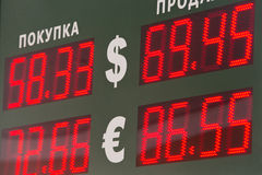 Rosyjskiego banka elektroniczny panel Fotografia Stock