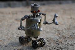 Rotäugiger Roboter stockfotos