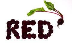 Rot als rote Rübe Lizenzfreies Stockbild