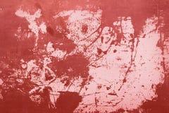Rot alterte alte Farbe auf dem Stahlhintergrund Lizenzfreie Stockbilder