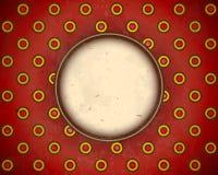 Rot alterte punktiertes Feld Stockbilder