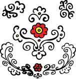 Rot blüht Blumenauslegung Lizenzfreies Stockfoto