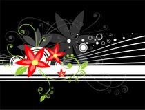 Rot blüht Hintergrund Stockfotos