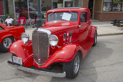 1933 Rot Chevy Coupe Stockbild