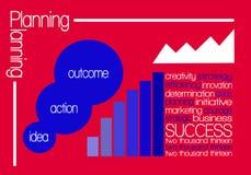 Rot der Erfolgs-Wolke 2013 Stockbilder
