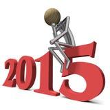 Rot des Jahres 2015 mit hardhead Lizenzfreie Stockfotografie
