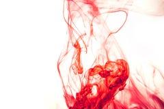 Rot färbte des wasserfarbe-Hintergrundgelbs der abstrakten Tropfenwolke Acrylunterkosmosschwarzabstraktionshimmel-Seebadekurort d Stockbild
