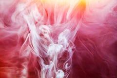 Rot färbte des wasserfarbe-Hintergrundgelbs der abstrakten Tropfenwolke Acrylunterkosmosschwarzabstraktionshimmel-Seebadekurort d Lizenzfreie Stockfotografie