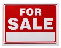 Rot für Verkaufs-Zeichen Stockfotografie
