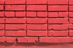 Rot farbige Backsteinmauer des Hauses Stockbild