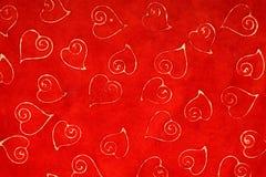 Rot farbiger Hintergrund der Liebe Lizenzfreies Stockfoto