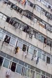 Rot flatgebouw in de rand van Shenzhen, China Stock Foto