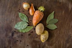 Rot fresh vegetables on the table Royalty Free Stock Image
