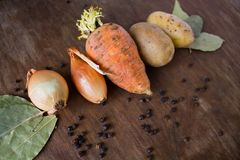Rot fresh vegetables on the table Stock Photography