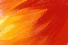 Rot-gelber gemalter Hintergrund Stockfotografie