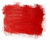 Rot gemalte Fahne Stockbilder