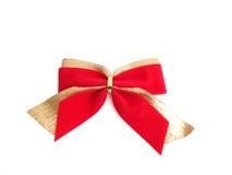 Rot-goldener Bogen auf einem weißen Hintergrund Stockfotografie