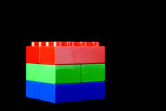Rot, grün und Blau - Rgb-Würfel Stockbild
