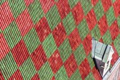 Rot-grüner Hintergrund Stockfoto