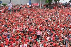 Rot-Hemd Protest in Bangkok Lizenzfreie Stockfotografie