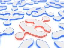 Rot im Blau Lizenzfreies Stockfoto