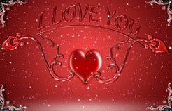 Rot ist die Farbe der Liebe Stockfoto