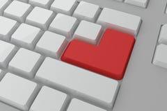 Rot kommen Taste auf Tastatur Stockfoto