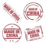 Rot kreist die Schmutzstempel ein, die IN CHINA HERGESTELLT werden Lizenzfreie Stockbilder