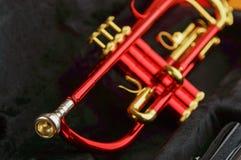 Rot-Messings-Trompete stockfoto