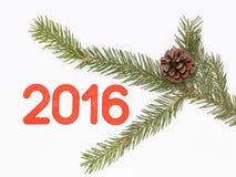Rot nummeriert 2016 Stockfoto