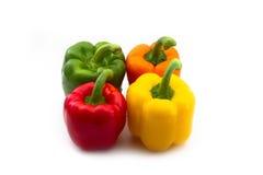 Rot-, orang, Gelbe und Grüne Paprika lizenzfreie stockfotos