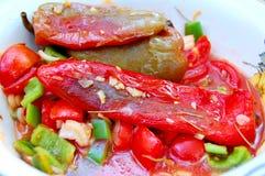 Rot- Paprika Delished und schmackhaftes stockbilder