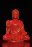 Rot reflektierter Buddha Lizenzfreie Stockfotografie