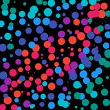 Rot-Rosa-Purpurrot-blauer Dots Background lizenzfreie abbildung