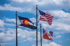 Rot schaukelt Amphitheater in Colorado lizenzfreies stockbild