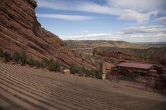 Rot schaukelt Amphitheatre Denver Stockbilder