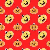 Rot schräg gelegenes nahtloses Muster Halloween-Kürbises Stockfotos