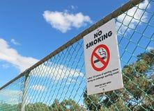 Rot, Schwarzweiss-Nichtraucher innerhalb 10 Meter unterzeichnen Stockfotografie