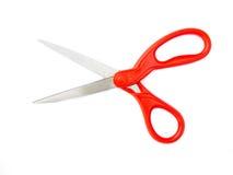 Rot scissor lokalisiert auf Weiß Lizenzfreie Stockbilder