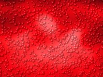 Rot sprudelt abstrakte Hintergrundvektorillustrationen lizenzfreie abbildung