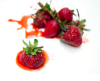 Rot strawberry Stock Photography