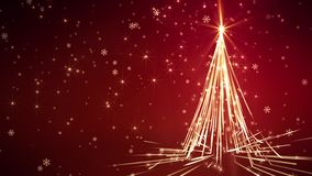 Rot streift Weihnachtsbaum stock abbildung