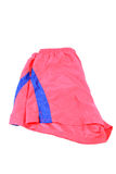 Rot trägt kurze Hosen zur Schau Stockbild