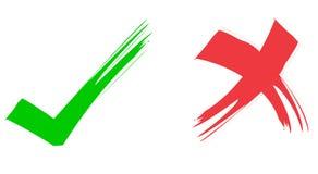 Rot-u. Grün-Häckchen lizenzfreie abbildung