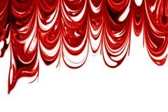 Rot- u. weißesmarmorn Stockbild