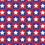 Rot und blau mit weißen Sternen Stockfoto